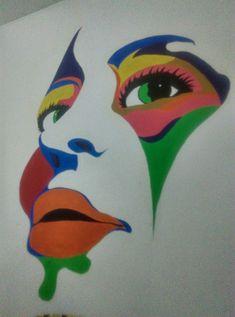 Diseño de cara a color