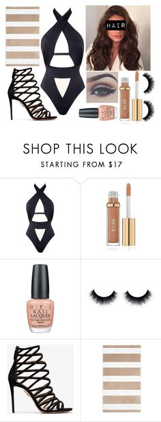 """""""Hot Spring"""" by keeleyndcorban on Polyvore featuring Agent Provocateur, OPI, Bellezza, Aquazzura and Hudson Park"""