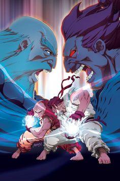 gouken, gouki, ken, ryu Street Fighter II Turbo 4a by #UdonCrew on deviantART