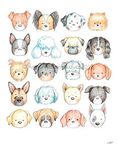 dog training,dog hacks,smart dog,teach your dog,dog learning Cute Animal Drawings, Cute Drawings, Dog Drawings, Collage Poster, Baby Animals, Cute Animals, Dog Tattoos, Dog Names, Girl Names