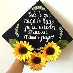 """So I wanted to make my cap with something Tangled, but in all honesty, I owe everything to my parents, not a Disney movie. """"Everything I do, I do for you. Thank you mom and dad. Nursing Graduation, Graduation Pictures, College Graduation, Graduate School, Graduation Cap Designs, Graduation Cap Decoration, Graduation Ideas, Caps For Graduation, Decorated Graduation Caps"""