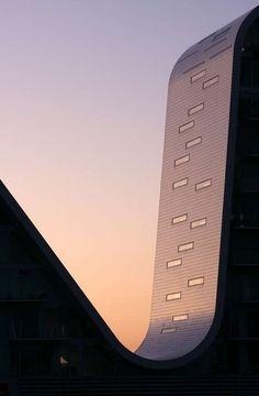 The Wave in Vejle, Denmark by Henning Larsen Architects. Image via Designed For Life.