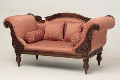 Beautiful couch and loveseat set piece for living room styles. Victorian Couch, Victorian Design, Victorian Furniture, Victorian Decor, Antique Decor, Victorian Fashion, Antique Couch, Victorian Interiors, Victorian Dollhouse