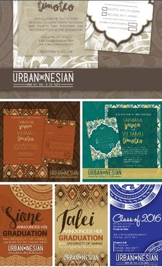 BEAUTIFUL POLYNESIAN WEDDING INVITATIONS MADE BY GEKD BOUTIQUE IN