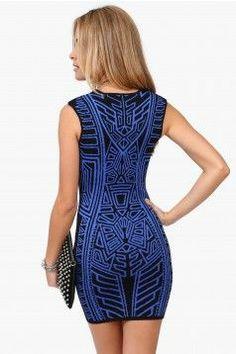 Torn Print Dress