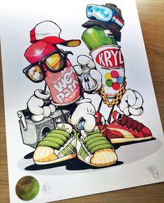 Graffiti Artwork, Graffiti Drawing, Cool Art Drawings, Cartoon Drawings, Cartoon Art, Graffiti Cartoons, Graffiti Characters, Graffiti Designs, Graffiti Styles