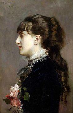 Giovanni Boldini (Italian 1842–1931) [Portraiture] Madame Leclanche, 1881.