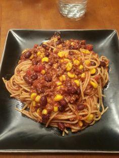 Taco spaghetti - easy - healthy - fast - cheap - dinner idea