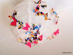 Lanterne papier DIY etpapillons