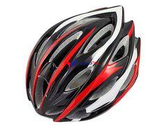 Casque de vélo de route / VTT (noir + rouge)