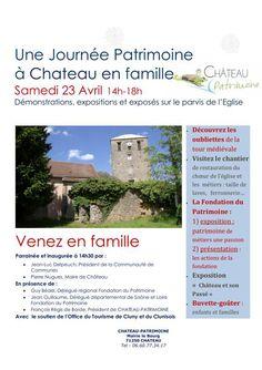 Journée patrimoine à Château en famille le 23 avril 2016 : http://clun.yt/1S70q1U
