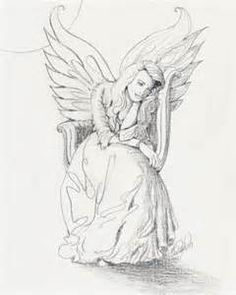Color Pencil Drawing Tutorial Lonely Guardian Angel in the Moonlight - Drawing Faces, Drawing Sketches, Art Drawings, Drawing Art, Drawing Ideas, Amazing Drawings, Drawing Tips, Cartoon Drawings, Figure Drawing