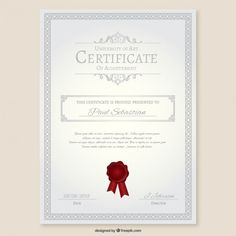 University certificate Free Vector Certificate Of Achievement, Certificate Design, University Certificate, Tech Pack, Vector Free, Design Ideas, Tips, Free Vector Art, Universe