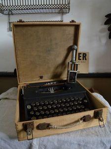 Vintage Typewriter in Wooden Box