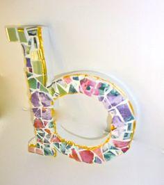 P R E T T Y Mosaic Alphabet Letter B ... by LadylynneesTreasures