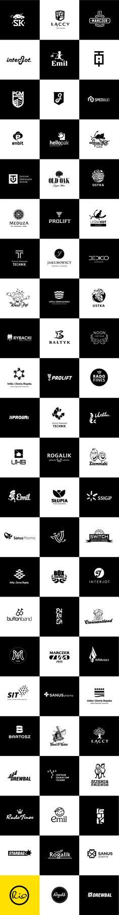 Logos B&W by Rio Creativo, via Behance