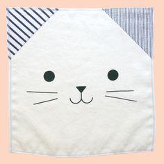 Cat napkin by Hopewell Studio | The Fox is black