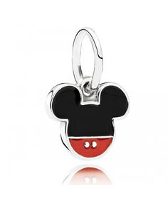 5aac9c3c4 The PANDORA Disney Mickey Icon Charm features a Mickey Mouse Icon in Red and  Black Enamel. This charm couldn't get any more perfect to show your love for  ...