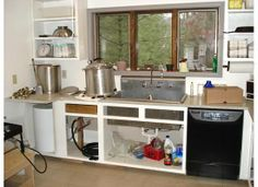 Outdoor canning kitchen...I like the broiler thingy but what is it ...
