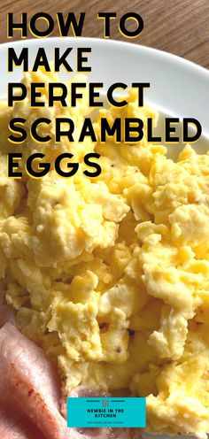 How To Make Perfect Scrambled Eggs. Learn how to make perfect scrambled eggs with this easy recipe, simple to make, taking just minutes. Fluffy, soft, and creamy, this makes for a quick breakfast or brunch Egg Recipes For Breakfast, Delicious Breakfast Recipes, Quick And Easy Breakfast, Savory Breakfast, Breakfast Time, Brunch Recipes, Breakfast Ideas, Easy Dinner Recipes, Easter Recipes