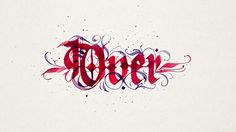 Mirco Monsees calligraphic word a day