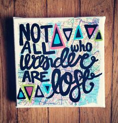 Canvas Painting  Wander Map Quote by kalligraphy on Etsy, $18.00
