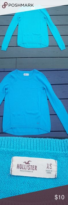 Hollister Women's Blue Sweater Size XS Beautiful blue and feels great. Hollister Sweaters Crew & Scoop Necks