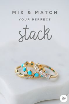 Stackable rings are the latest fashion trend. Express your style with mixing and matching your favorite stackable rings and wear them around town to show off! Cute Jewelry, Jewelry Box, Jewelry Rings, Jewelery, Jewelry Accessories, Jewelry Design, Jewelry Making, Jewelry Drawer, Vogel Tattoo