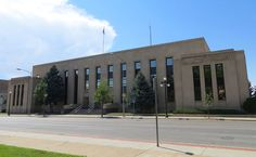 The Natrona County Courthouse (all courts have moved to the Justice Center, but many of the county offices remain here), Casper, Wyoming Casper Wyoming, Offices, Sidewalk, Side Walkway, Walkway, Desk, The Office, Walkways, Corporate Offices