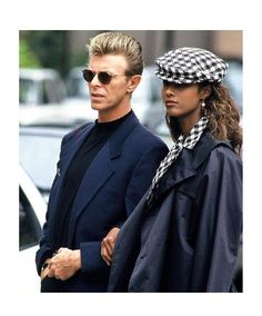 classic David bowie and Iman