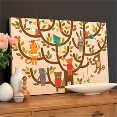 Tree Party Jumbo Wood Panel Print