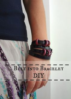Little Treasures: Belt to Bracelet DIY