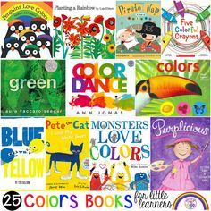 Color and Colors Mixing book list just for little learners (preschool, pre-k, and kindergarten) . Discover amazing color books for circle time. Preschool Colors, Preschool Activities, Book Activities, Toddler Coloring Book, Coloring Books, Mixed Up Chameleon, Cute White Dogs, Planting A Rainbow, Penguin Coloring