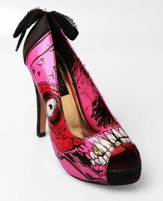 Zapatos de tacón zombie