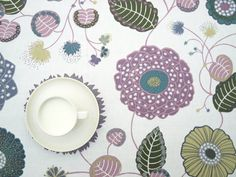 Items similar to Tablecloth white green purple pink Floral Botanical Modern Scandinavian Design ,also napkins , runners , curtains available, great GIFT on Etsy Buckwheat Hull Pillow, Cotton Curtains, Lilac, Pink, Green And Purple, Scandinavian Design, Linen Fabric, Great Gifts, Napkins