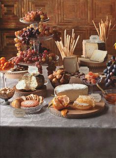 Are you going to set up a buffet for your Holiday meal? Not just any ordinary buffet. I& talking about a buffet that& really and truly beautiful! Wine And Cheese Party, Wine Tasting Party, Wine Cheese, Cheese Fruit, Gourmet Cheese, Cheese Cubes, Cheese Food, Cheese Spread, Cheese Table