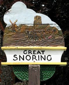 Great Snoring, Norfolk, Great Snoring is a rural village in North Norfolk by the River Stiffkey, in the east of England. It is situated approximately 40 miles (64 km) north-west from the city and county town of Norwich, and 2 miles (3 km) north from the larger village of Little Snoring.