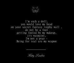 It's Warpaint - Kitty Tenebris  warpaint trophy makeup doll poetry poem poets of instagram kitty tenebris instaquote quotes