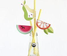 diy fruit straws Straws, Things To Do, Crafty, Texture, Fruit, Paper, Crochet, Creative, Fabric