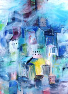 Original Abstract Painting on Canvas by kerriblackmanfineart