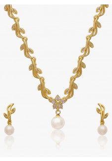 Golden Alloy Necklace Set