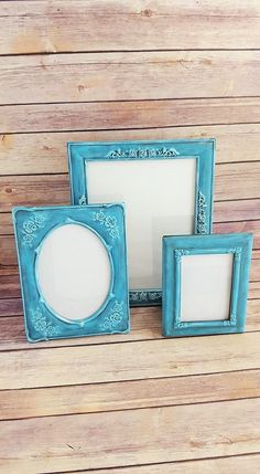 Check out this item in my Etsy shop https://www.etsy.com/listing/270955815/ornate-frames-set-of-3-turquoise-vintage