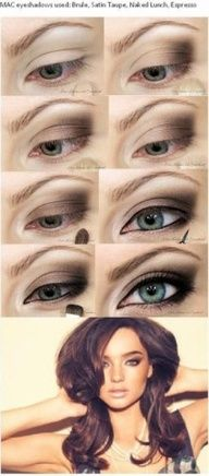 makeup tuitorials for green eyes - Google Search