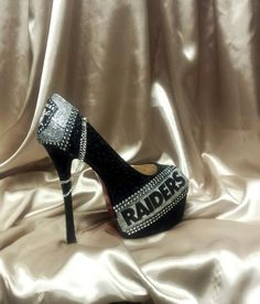 Oakland RAIDERS NFL Heels. All sizes.All Teams. Ready FAST! 95.00 by MyPrincessPlatforms on Etsy