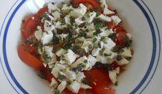 salade à la grecque et au serpolet