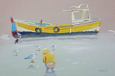 """Saatchi Art Artist Charles Stuart; Painting, """"Mud Larks"""" #art"""