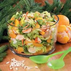 Mandarin Orange Chicken Salad - made this. Very good! Added boiled rice noodles, cooled and cut up.