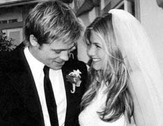Jennifer Aniston marries Brad Pitt in Lawrence Steele, . Jennifer Aniston marries Brad Pitt in Lawrence Steele, Brad Pitt Jennifer Aniston, Jennifer Aniston Wedding Dress, Brad Pitt And Jennifer, Jenifer Aniston, Jenifer Lawrence, Jennifer Aniston Today, Celebrity Wedding Photos, Celebrity Wedding Dresses, Hollywood Actresses