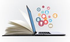Digital book ebook online learning prezi next presentation template