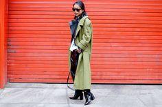 Street Style en New York Fashion Week, febrero 2015 © Jessie Bush